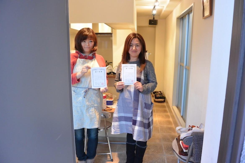 シフォンケーキ教室、修了おめでとうございます!