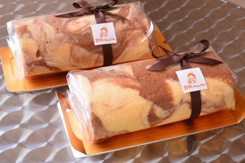 季節限定シフォンレッスン、シナモンとチョコレートのロールケーキ
