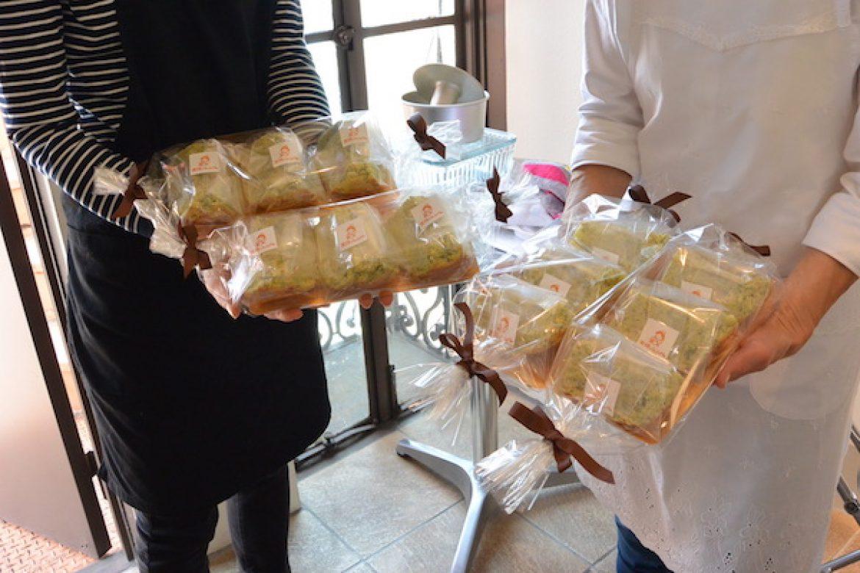 修了生レッスン 季節限定ベジシフォン(ほうれん草&チーズ)のお写真ご紹介