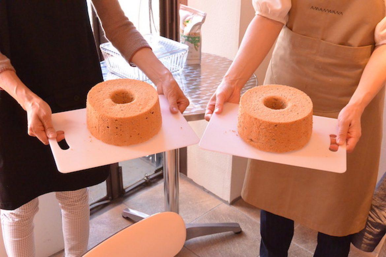 基礎クラス 紅茶シフォンケーキのお写真ご紹介