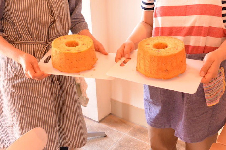 修了生レッスン 季節限定イタリアンシフォン(トマト&サラミ)のお写真ご紹介