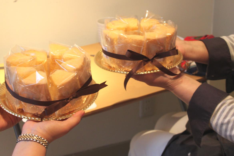 シフォンケーキ作りを通じて貴重なお時間を共有させて頂きました!ありがとうございました!