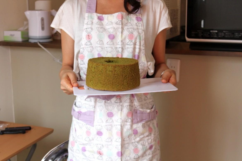シフォンケーキ教室(抹茶シフォンケーキ)、お越しいただきありがとうございました!