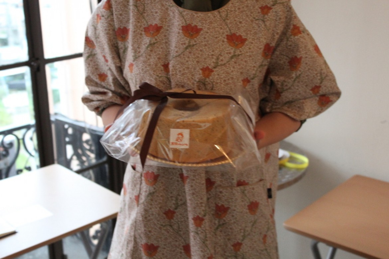 シフォンケーキ教室(紅茶シフォンケーキ)、ラッピングまでとてもきれいに出来上がりました!
