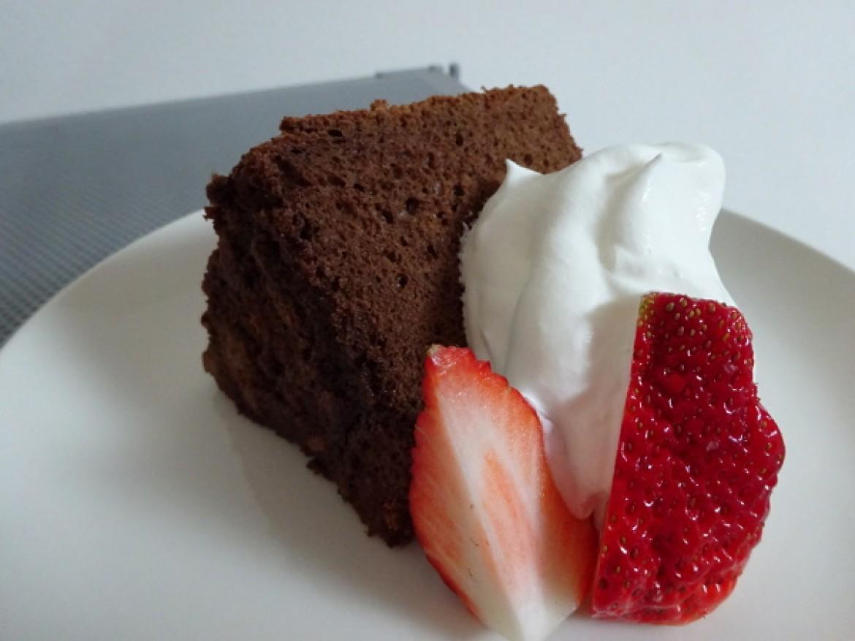 チョコレートシフォンケーキに挑戦してみました!とお教室ご参加の方からメール頂戴しました