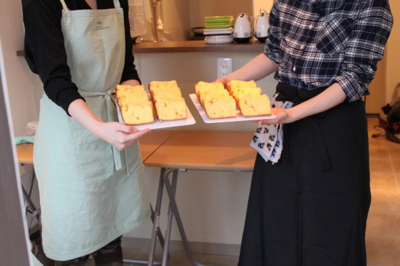 応用クラス 柑橘系の爽やかオレンジシフォンケーキ焼き上がりました♪