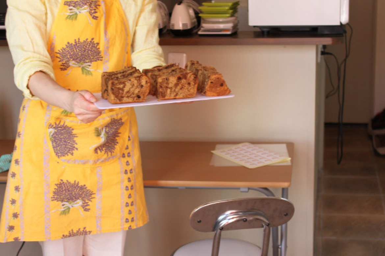 応用クラス 珈琲マーブルチョコチップのお教室は、テスト前最終レッスンのおたのしみシフォンです