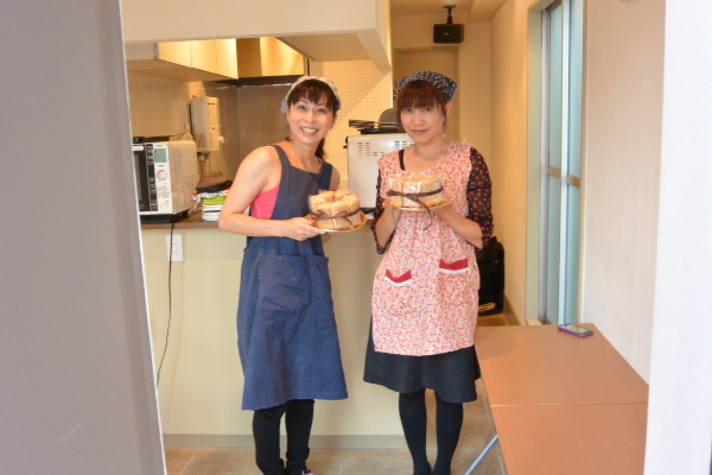 プレゼントにぴったり♪紅茶シフォンケーキ、ラッピングまで完成です