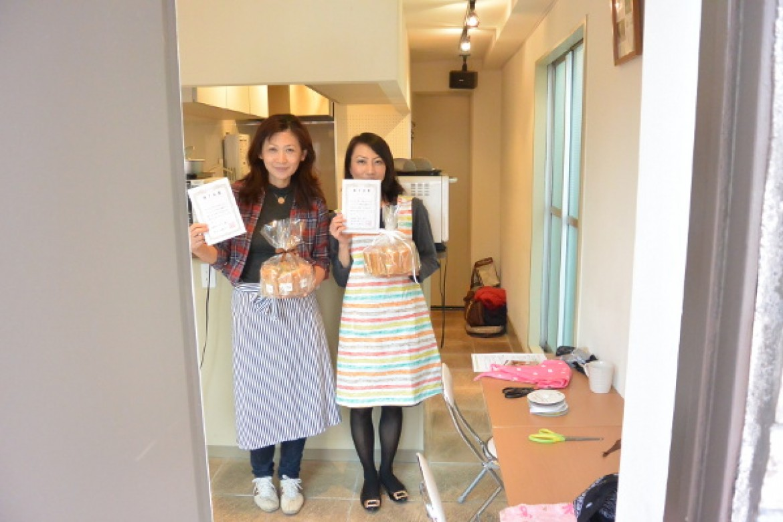 シフォンケーキ教室 修了テスト、合格です!おめでとうございました