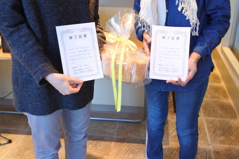 シフォンケーキ教室、ご参加いただきありがとうございます!