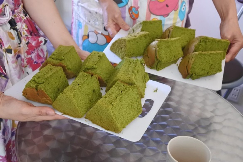 基礎クラス3回目は、抹茶シフォンケーキを作ります