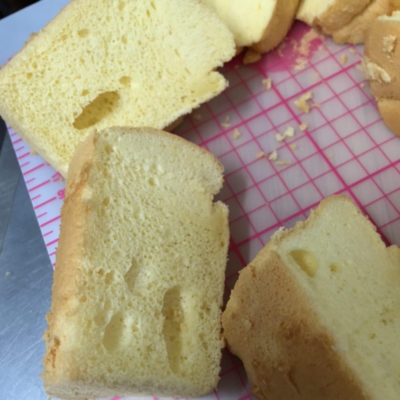 受講生の方から、バニラシフォンケーキのお写真をお送りいただきました♪