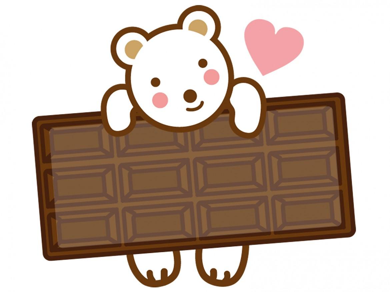 シフォンケーキにチョコ